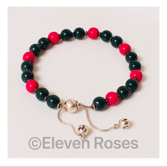 fb0b9fce5 Gucci Jewelry | Boule Britt Red Green Wood Bead Bracelet | Poshmark